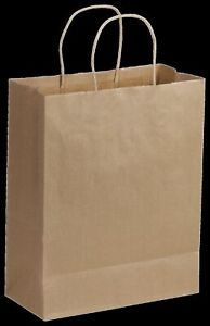 250 Kraft Gift Merchandise Paper Bags Shoppers Lindsey 10 X 5 X 13 14 100513