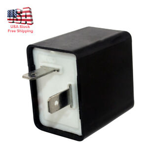 2pin 12v Electronic Led Flasher Relay Fix For Turn Signal Light Fast Hyper Flash