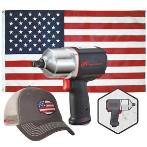 Ingersoll Rand Special Usa Edition 1 2 Drive Air Impact Wrench Kit Ir 2135usa