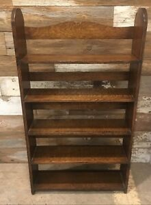 Beautiful Antique Quartersawn Tiger Oak Bookshelf Shelf