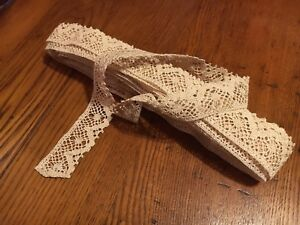 True Vintage Trim Lace Ivory Amin Beder 13 Yds X 1 1 2 Wedding Lingerie Veil