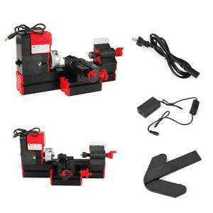 Dc12v 3a 36w Mini Lathe Milling Machine Bench Drill Wood Engraving Power Tool