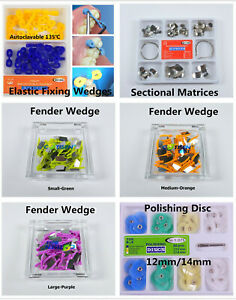 Dental Elastic Fixing Wedges Rubber Dam Sectional Contoured Matrices Matrix Band