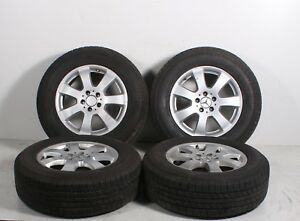 06 07 08 Mercedes benz Ml350 W164 Set Of 4 Wheel Rim Tires 235 65 R17 Oem