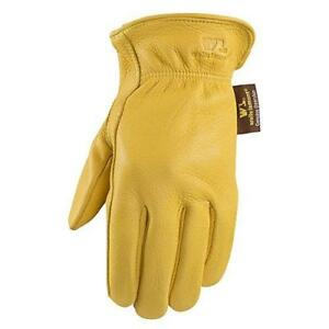 Wells Lamont 962l Grain Deerskin Full Leather Work Gloves Large Goldenrod