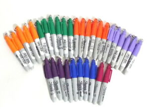 33 count Mini Sharpies Permanent Markers With Hooks Assorted Colors