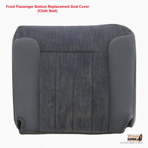 1995 Dodge Ram 1500 2500 3500 Front Right Side Bottom Fabric Seat Cover Gray