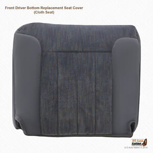 1994 1995 1996 Dodge Ram 3500 Slt Front Driver Bottom Gray Fabric Seat Cover