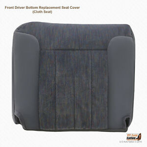 1995 Dodge Ram 1500 2500 3500 Driver Bottom Replacement Seat Cover Cloth In Gray