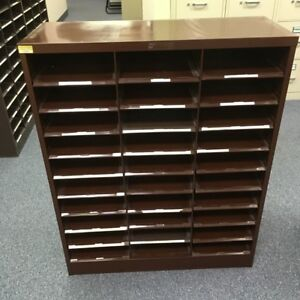 Steelmaster Stackable Metal Sorting Cabinets Brown 4 Pieces Used