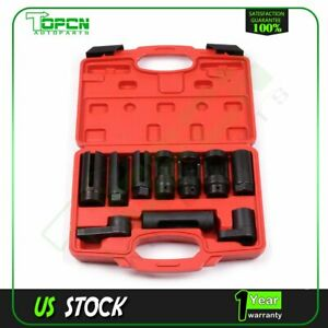 Oxygen Sensor Socket Diesel Injection 10pc Offset Ratchet Oil Pressure Set New