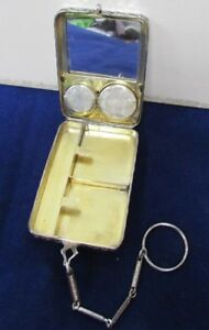 Vintage 1920 S Sterling Silver Coin Purse Key Ring With Mirror
