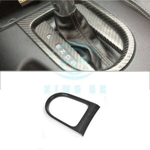 Gear Shift Knob Cover Frame Trim Dry Carbon Fit For Ford Mustang 15 17