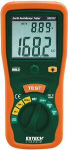 New Extech 382252 Earth Ground Resistance Tester Kit Us Authorized Dealer