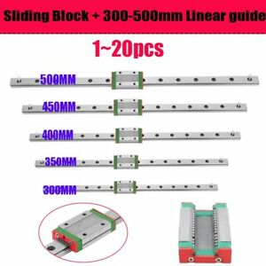 1 20mgn12h Linear Sliding Guide Block 300 350 400 450 500mm Cnc 3d Printer Lot