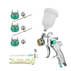 Car Spot Hvlp Spray Gun Hight Quality 1 4 1 7 2 0mm 600cc Cup Sprayer Manual Set