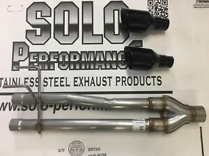 Hemi Dodge Ram 1500 Dual Exhaust Muffler Delete With Black Tips 2009 2018