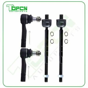 Steering 4pc Tie Rod End Inner Outer For Ford Explorer And Ranger Rwd