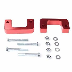 2 5 Front Leveling Lift Kit Fit Chevy Silverado Gmc Sierra Raise 2 5 Inch Red
