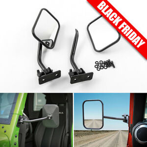 Side View Door Mirrors For Jeep Wrangler Jk Cj Yj Tj 1997 16 Rectangular Mirrors