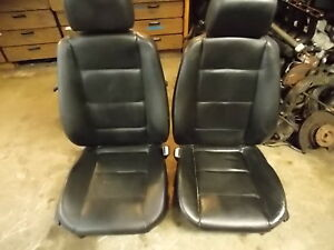 Bmw E36 Front Seats Black Leather Manual Oem 92 99 318 323 325 328