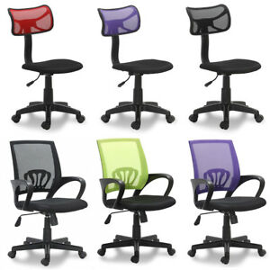 Adjustable Office Desk Computer Chair Mesh Back Padded Air Fabric Seat Swivel