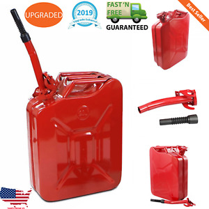 Jerry Can 5 Gallon 20l Gas Gasoline Fuel Army Nato Military Metal Steel Tank