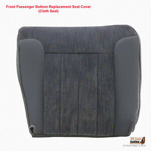1994 1996 Dodge Ram Front Passenger Bottom Cloth Seat Cover Gray With Piping