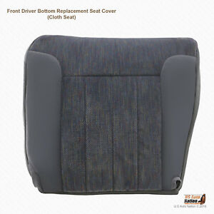 1995 1996 Dodge Ram 1500 2500 3500 Slt Driver Bottom Cloth Cover Gray W Piping