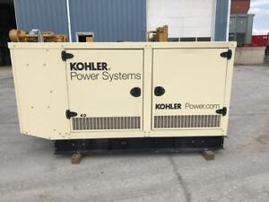 __39 Kw Kohler Generator Set Sound Attenuated 12 Lead Low Hours