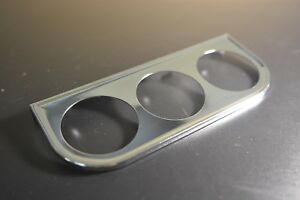 Chrome Triple Gauge Mount Bracket Chrome 2 Bosch Equus Sunpro Etc