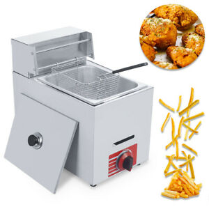 New 10l Commercial Countertop Gas Fryer W one Basket Gf 71 Propane lpg