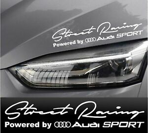 Street Racing Powered By Audi Stickers Decals White