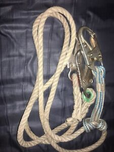 Teufelberger Safety Blue Rope With Sewn Eyes And Two Eye Splices