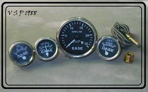 Case Tractor Temperature tachometer Ammeter Oil Gauge Set