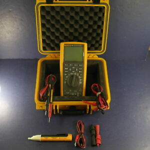 Fluke 289 Trms Multimeter Excellent Screen Protector Hard Case More