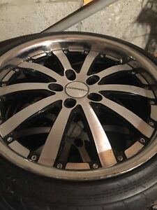 4 Rims Wheels 20 Inch Staggered 2007 Lexus Ls 460 With Pirelli Tires No Shipping