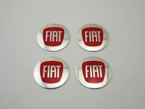 Car Wheel Center Caps Emblem Badge Hub Caps Stickers 56mm Fit Fiat Red R5653
