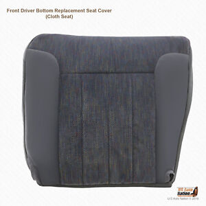1994 1995 1996 Dodge Ram Laramie Driver Bottom Cloth Seat Cover Gray With Piping