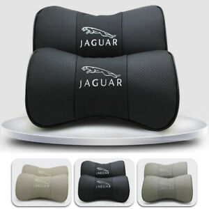 2pcs Car Neck Pillow Breathable Car Rest Cushion Seat Headrest For Jaguar