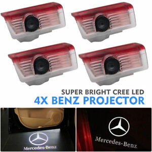 4pcs Led Door Courtesy Logo Light Ghost Shadow Laser Projector For Mercedes Benz