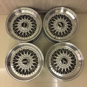 Rare Genuine Bbs Rs212 Wheels Rims 17x8 5 5x120 For Bmw E24 E28 E31 E32 E34 E36