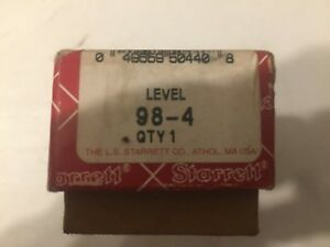 Starrett 98 4 Machinists Level With Ground And Graduated Vial