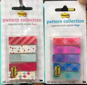 3m Post it Pattern Collection Flags Repositionable Bookmark Sticky Note Memo New