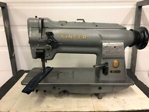 Singer 211g166 Walking Foot Vertical Bobbin Reverse Industrial Sewing Machine