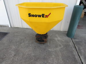 Used Snowex Salt Spreader 210lb Capacity Fits 2 Receiver New Wiring