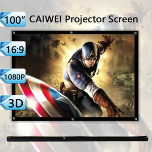 100 Projector Screen Matte White 16 9 Hd Projection 3d For Espon Benq Optoma