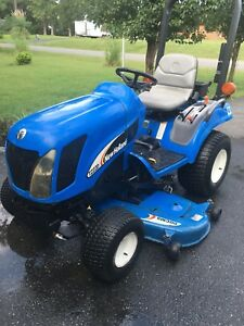New Holland Compact Tractor Tz22da 4x4 60 Mower Diesel 486 Hours Hydrostatic