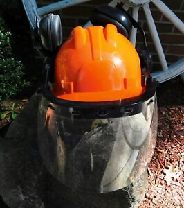 Safety Helmet Hard Hat Construction Work Chainsaw Eye Ear Face Protection Shield