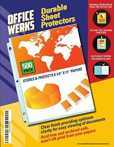 Clear Sheet Protectors 8 5 X 11 500 Pack Durable Top Load reinforced Safe